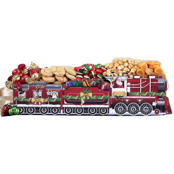 Wine Country Gift Baskets Christmas Express Holiday Favorite Sweets Train Gift Basket