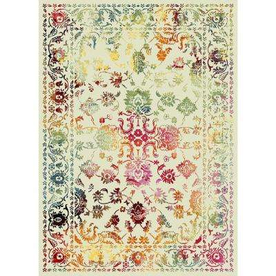 Aiza Collection Multi-Colored 5 ft. x 7 ft. Area Rug