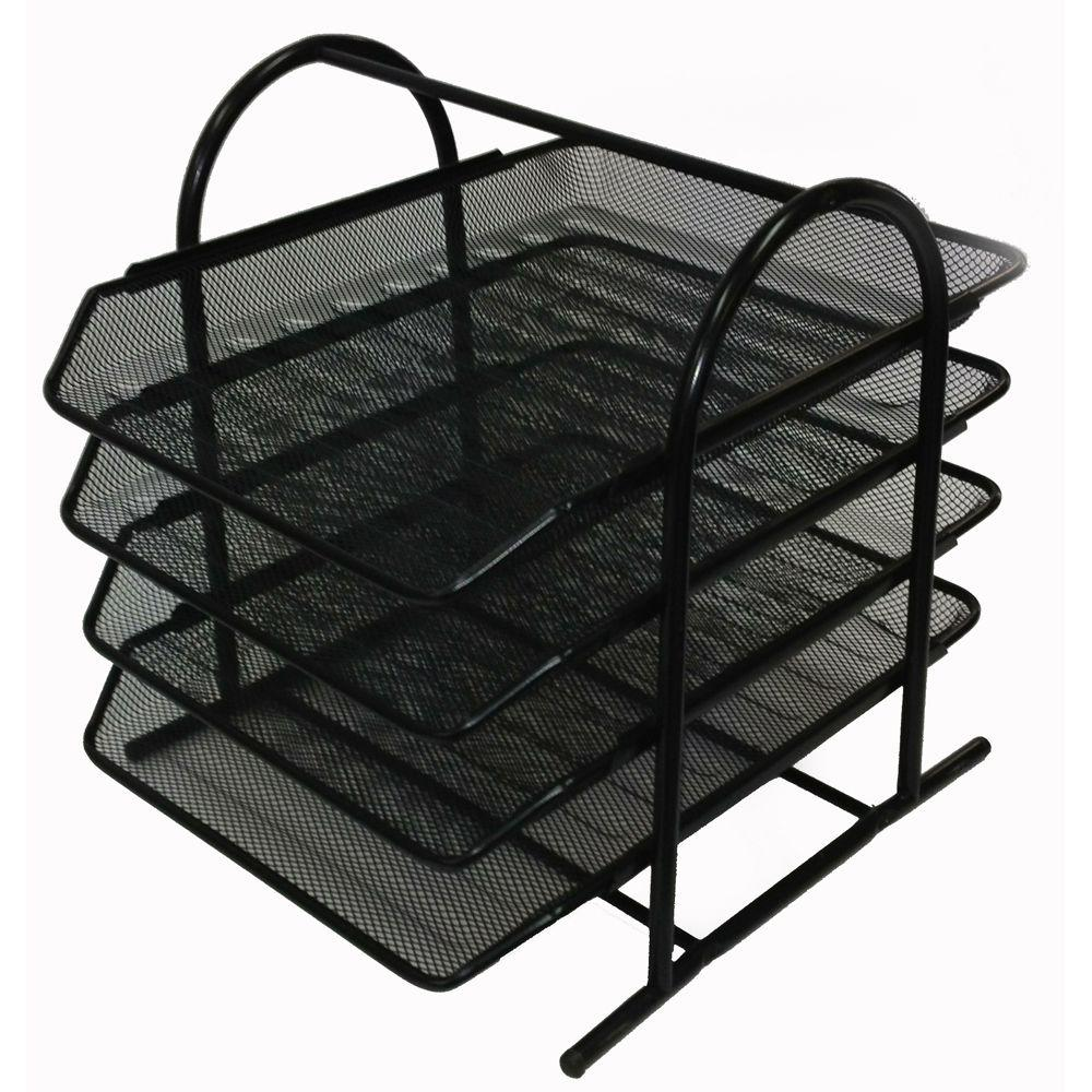 Buddy Products Mesh 4-Tier Letter Tray-ZD018-4 - The Home Depot