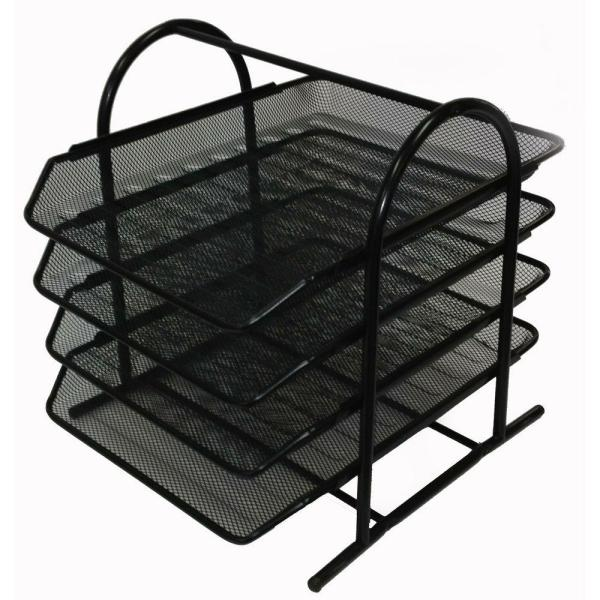 Buddy Products Mesh 4-Tier Letter Tray