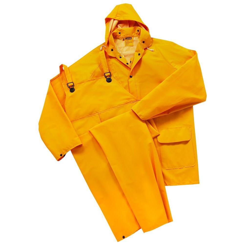 35 ml PVC Over Polyester Flame Resistant Medium Rainsuit 3-Pieces