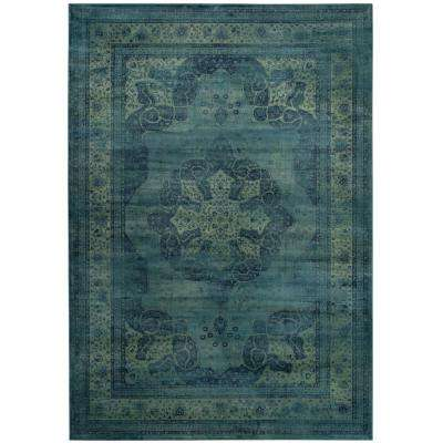 Vintage Blue/Multi 8 ft. x 11 ft. 2 in. Area Rug