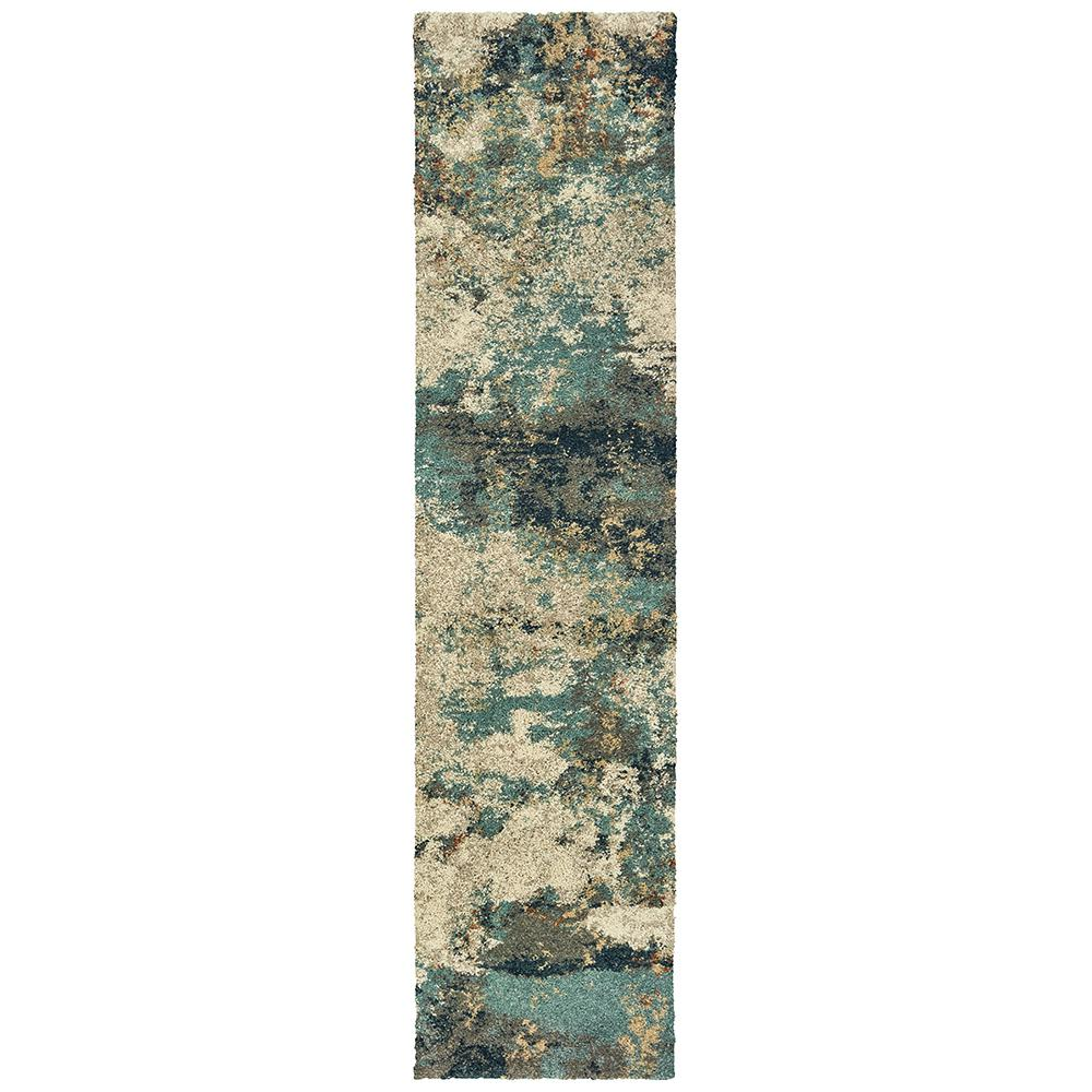 Home Decorators Collection Braxton Multi 2 ft. x 8 ft. Abstract Runner Rug
