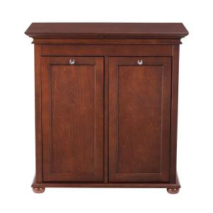 Home Decorators Collection Hampton Harbor 26 In Double Tilt Out Hamper In Sequoia 2601310960