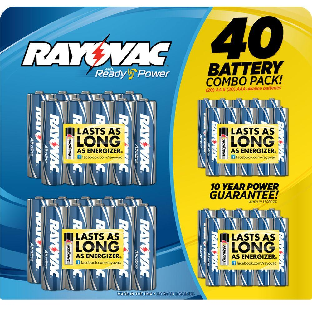 Rayovac 20 AA and 20 AAA Battery (40-Pack)