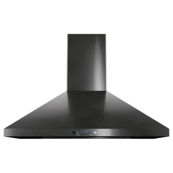 GE 30 in. Convertible Wall-Mount Range Hood with Light in Black Stainless Steel, Fingerprint Resistant