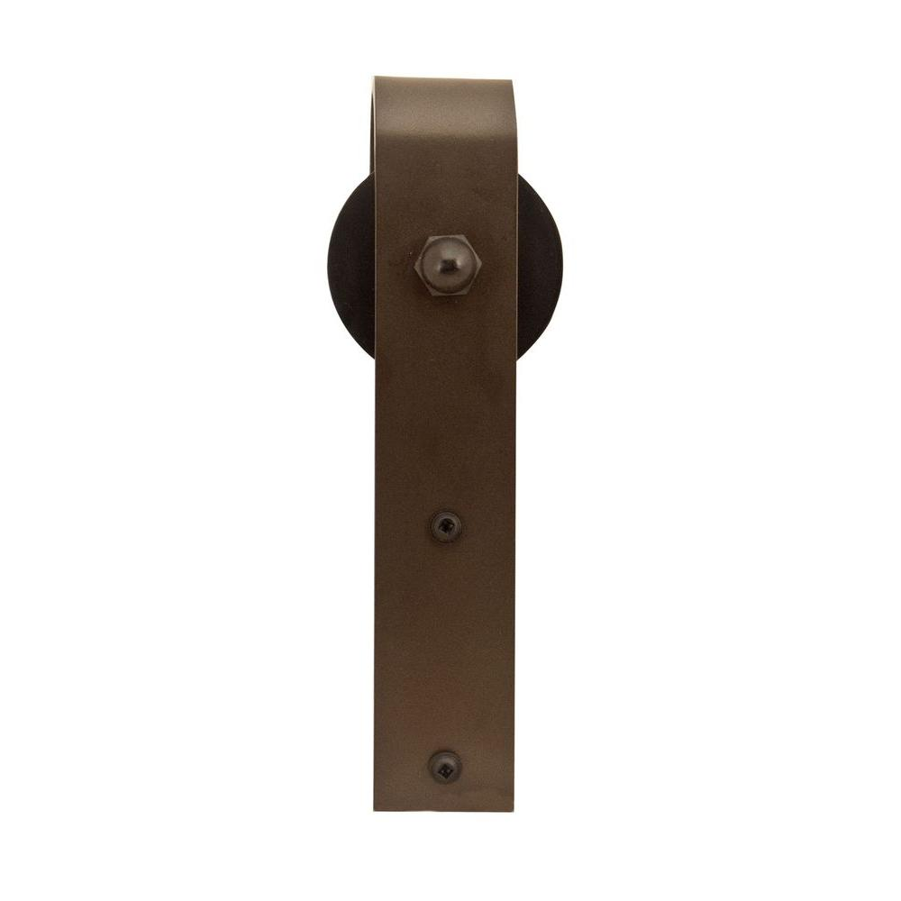 1-1/2 in. x 7-3/4 in. Oil Rubbed Bronze Hook Rolling Door Roller