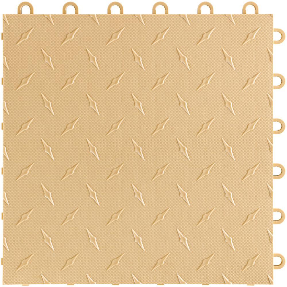 12 in x 12 in. Mocha Java Diamondtrax Home Modular Polypropylene Flooring 50-Tile Pack (50 sq. ft.)