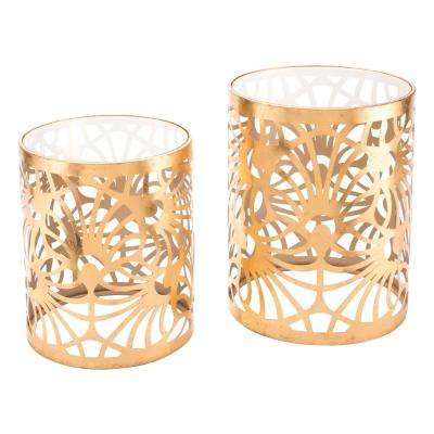 Tropic Gold Tables (Set of 2)