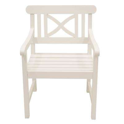 Atlantic White Wood Outdoor Dining Chair