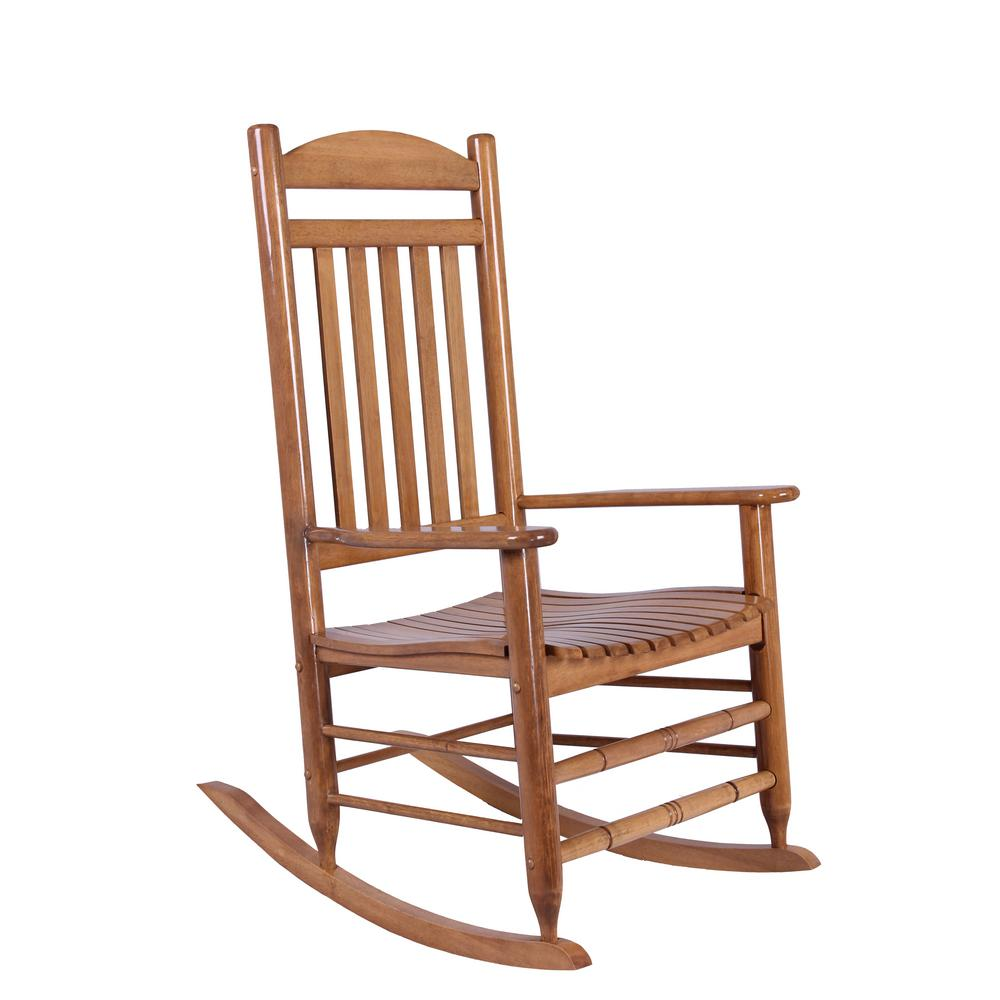 Natural wood rocking chair it 130828n the home depot for Rocking chair