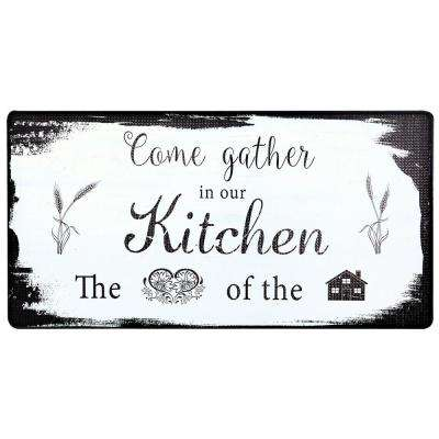 Cook N Comfort Beige Come Gather 20 in. x 39 in. Kitchen Mat