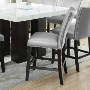Tremendous Camila 24 In Silver Counter Chair Set Of 2 Ibusinesslaw Wood Chair Design Ideas Ibusinesslaworg