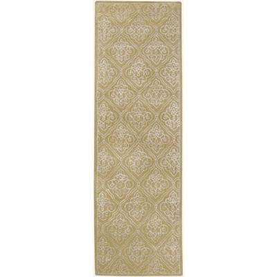 Candice Olson Pale Green 2 Ft 6 In X 8 Rug Runner