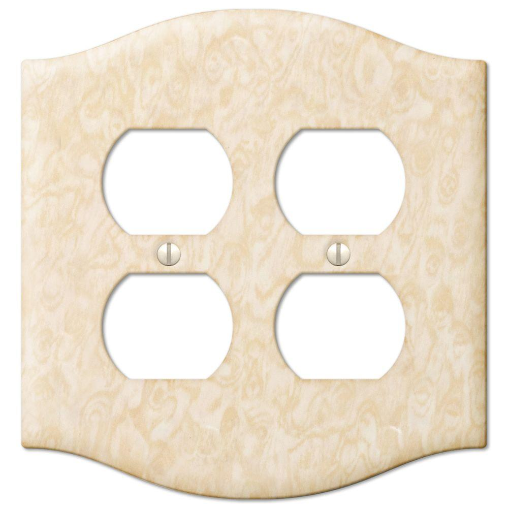 Creative Accents Steel 2 Decora Wall Plate - Honey