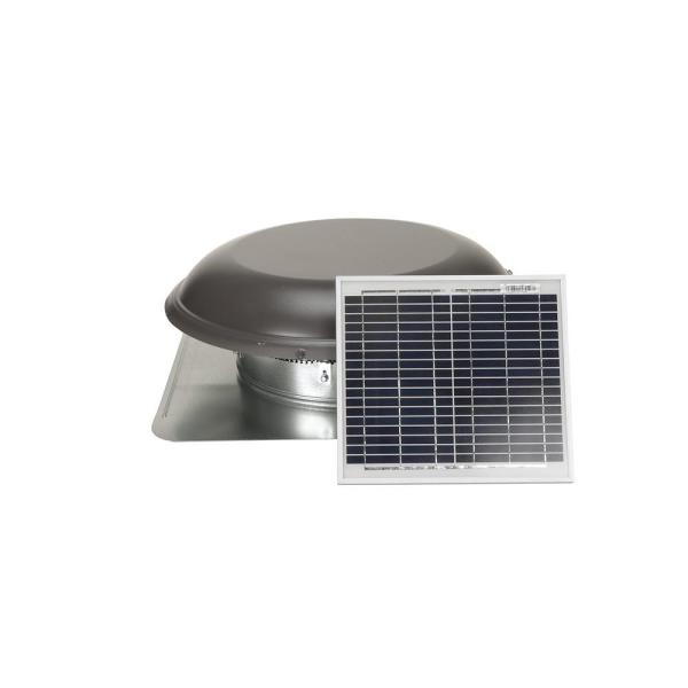 800 CFM Weatherwood Galvanized Steel Solar Powered Attic Fan