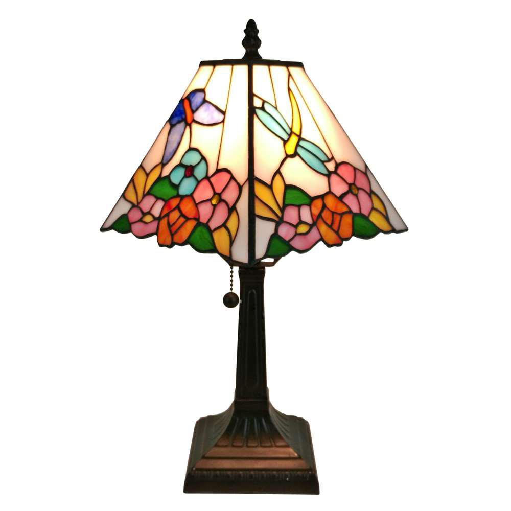 12 in. Multicolored Tiffany Style Floral Table Lamp