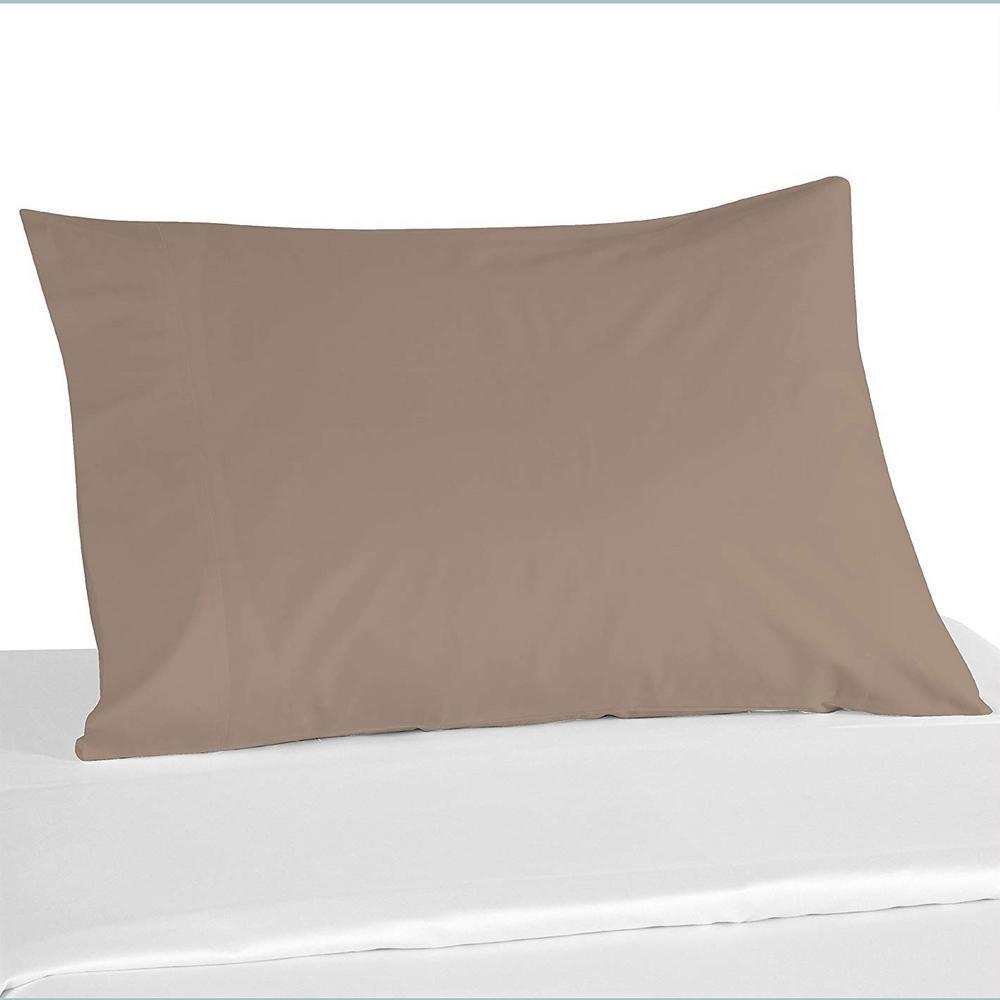 100% Khaki Color Cotton Pillowcase