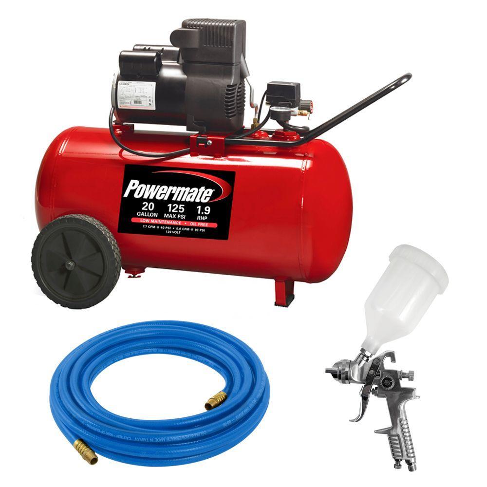 Powermate 20 Gal. Portable Air Compressor Kit by Powermate