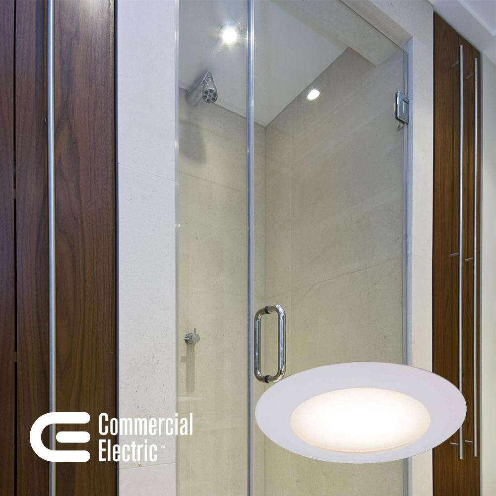 Commercial Electric 6 In White Recessed Shower Trim