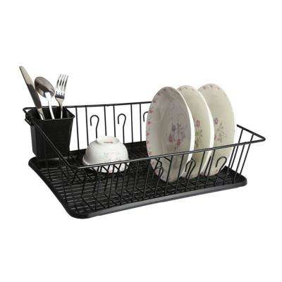 17.5 in. Dish Rack in Black