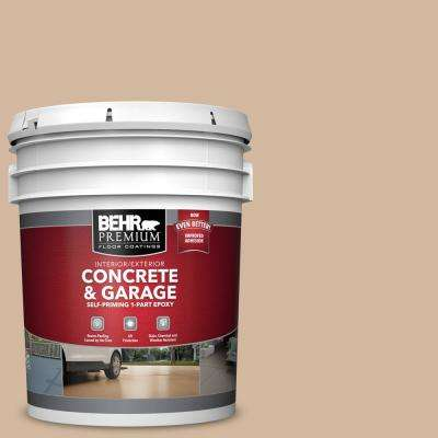 5 gal. #S280-3 Practical Tan Self-Priming 1-Part Epoxy Satin Interior/Exterior Concrete and Garage Floor Paint