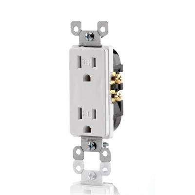 20 Amp Industrial Grade Weather/Tamper Resistant Self Grounding Duplex Outlet, Yellow