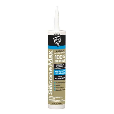 Silicone Max 10.1 oz. Clear 100% Premium Window, Door and Siding Silicone Sealant