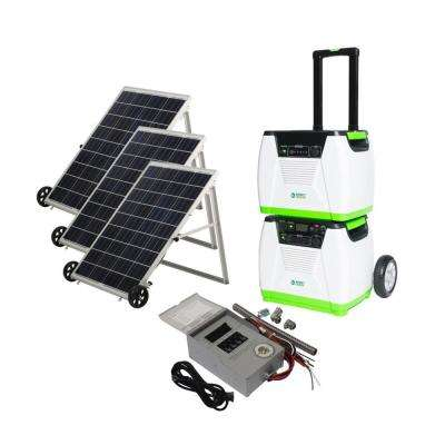 1800-Watt Solar Powered Portable Generator with Electric Start and Supplemental Power Pod and Power Transfer Kit