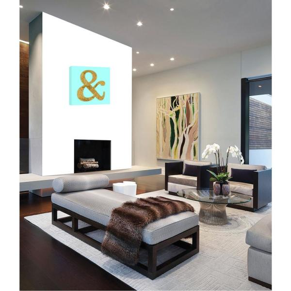 PTM Images 15.in x 15.in ''& I'' Printed Canvas Wall Art