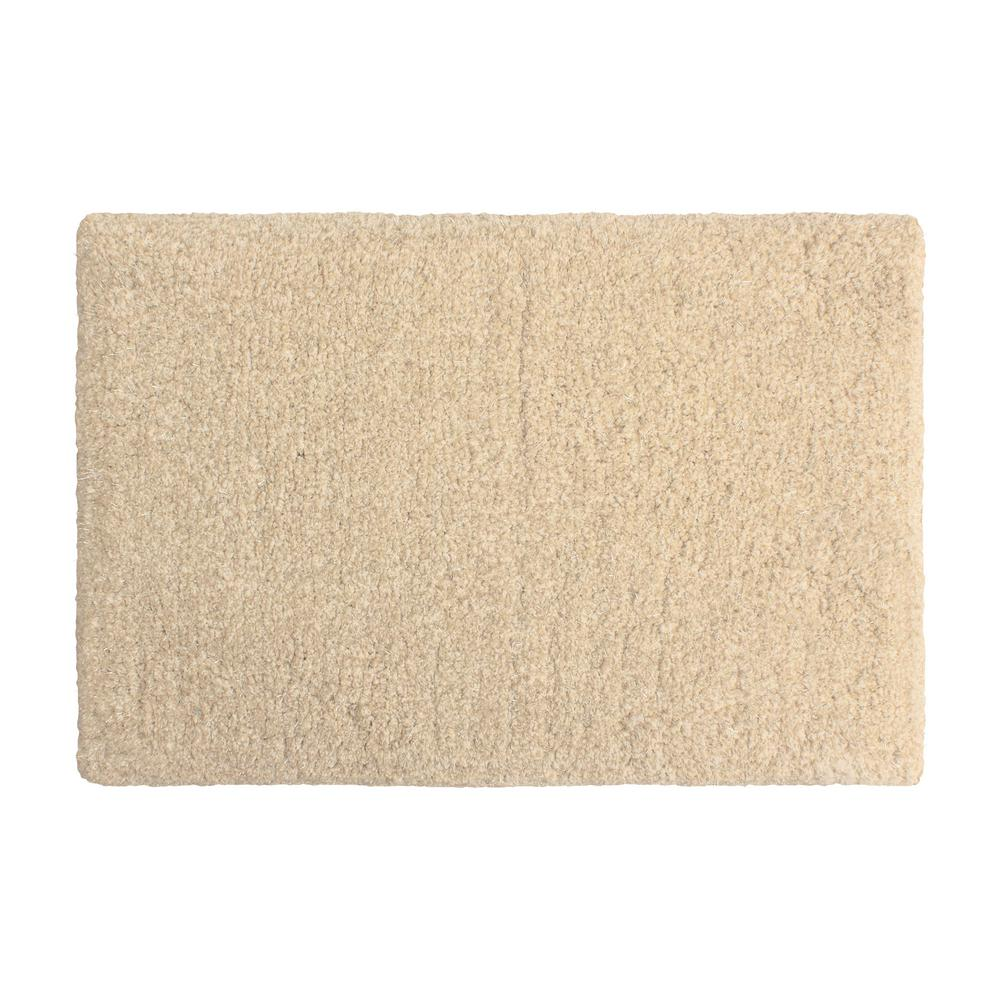 Rachel Lurex 17 in. x 24 in. Bath Rug, Beige