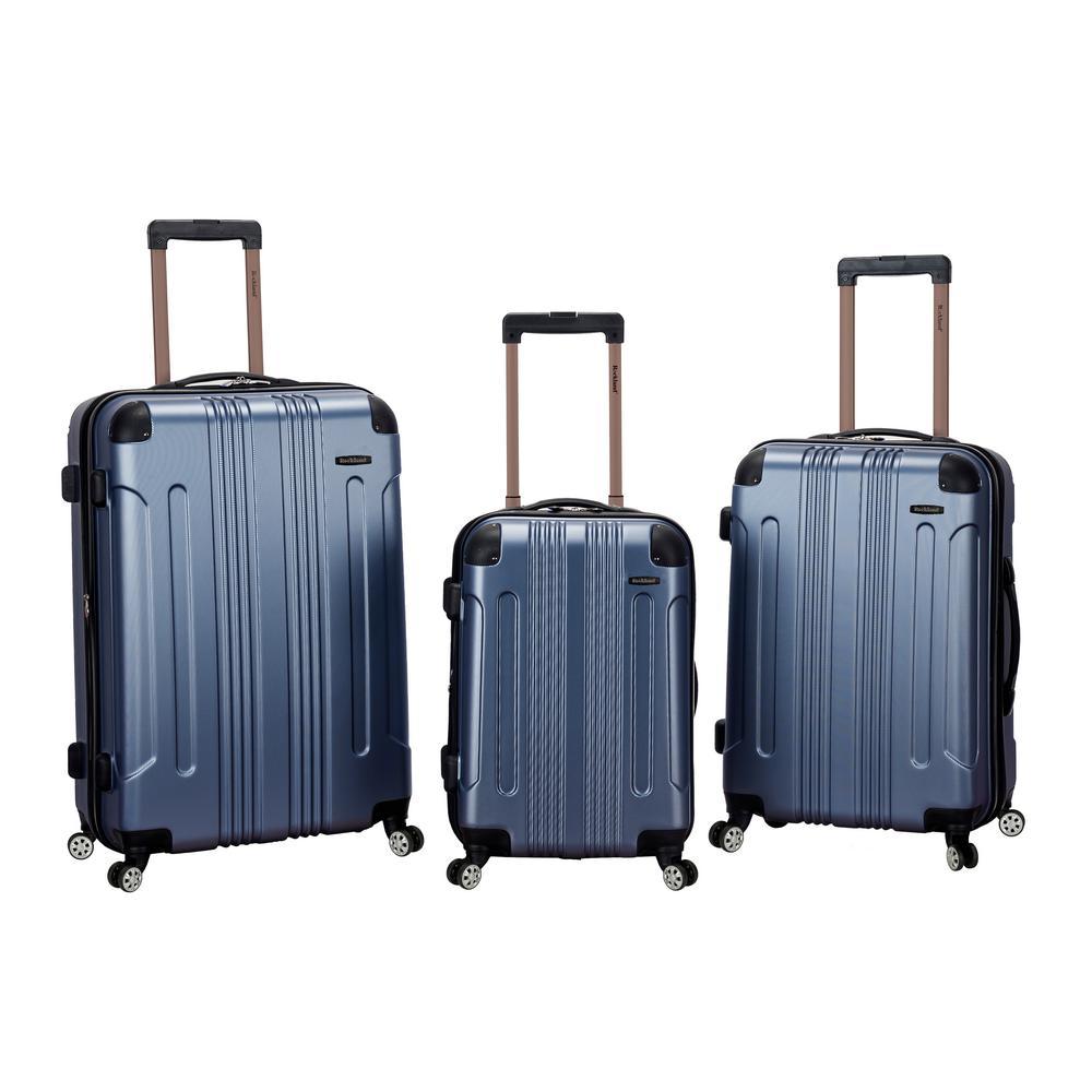 26b4472c2dd9fd Rockland Sonic 3-Piece Hardside Spinner Luggage Set