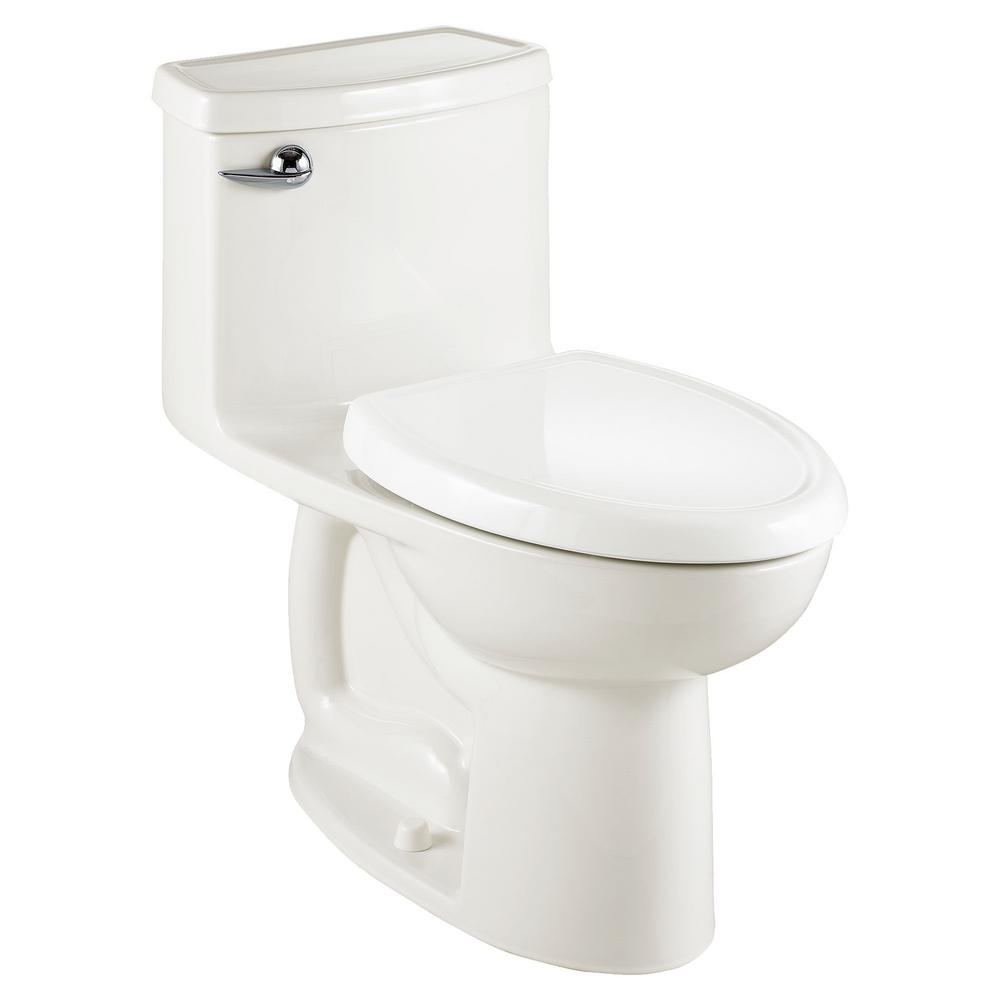 American Standard Compact Cadet 3-FloWise Tall Height 1-Piece 1.28 GPF  Single Flush Elongated Toilet in White, Seat Included-2403.128.020
