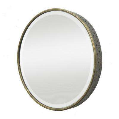 24.5 in. Metal Mirror in Gold