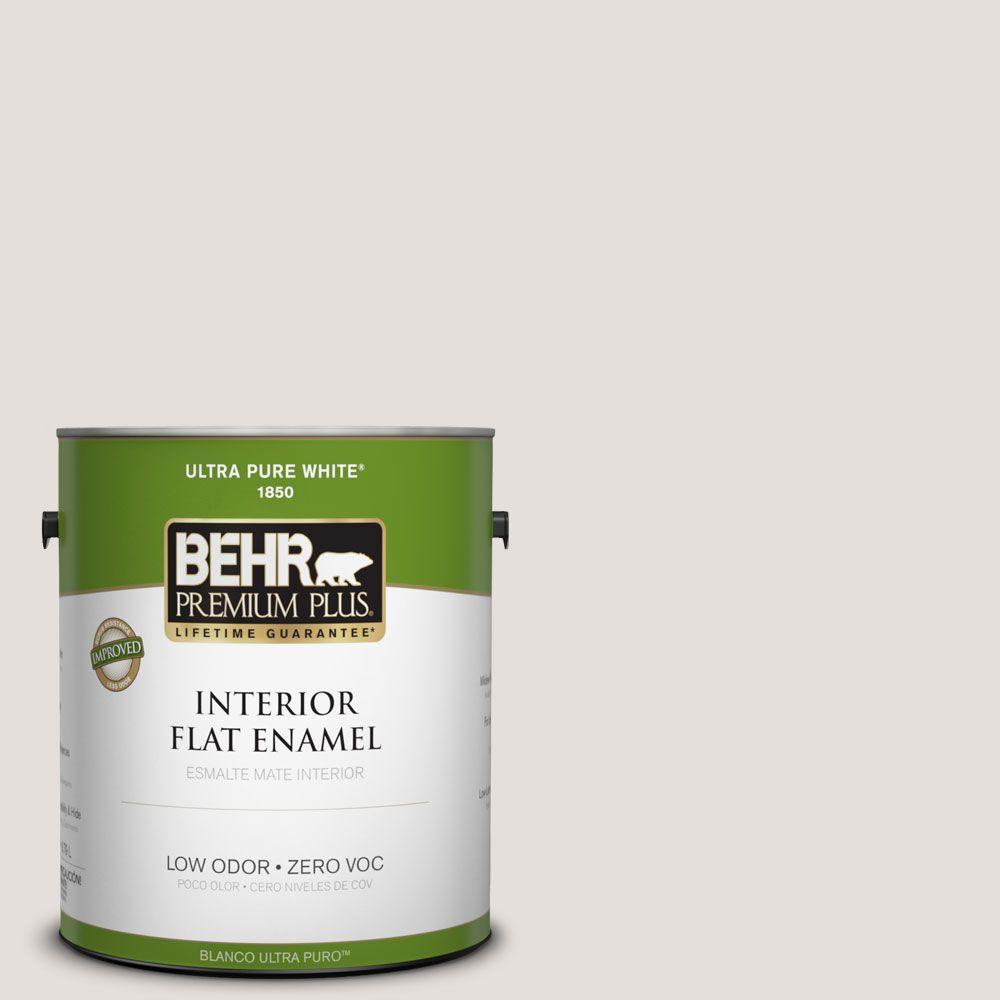 BEHR Premium Plus Home Decorators Collection 1-gal. #HDC-CT-17 Pale Starlet Zero VOC Flat Enamel Interior Paint-DISCONTINUED