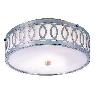 Balboa 3-Light Polished Chrome Flushmount with Opal Glass