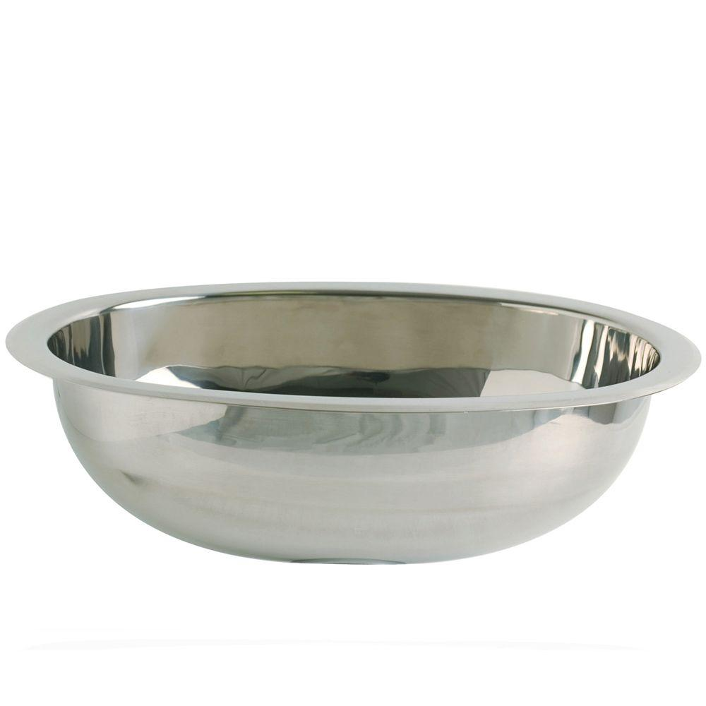 DECOLAV Simply Stainless Drop In Oval Bathroom Sink In Polished Stainless  Steel