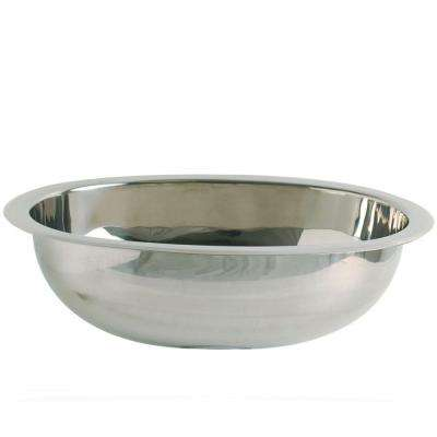 Simply Stainless Drop-in Oval Bathroom Sink in Polished Stainless-Steel