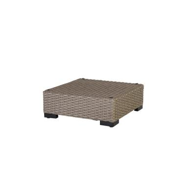 Commercial Gray Wicker Outdoor Ottoman Sectional Chair