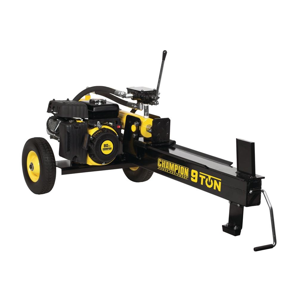 Champion Power Equipment 9-Ton Compact Horizontal 80cc Gas Log Splitter with Auto Return