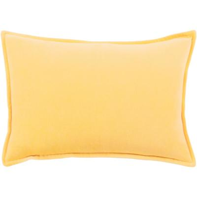 Velizh Yellow Solid Polyester 19 in. x 19 in. Throw Pillow