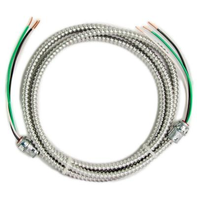 10 ft., 12/2  Solid CU MC (Metal Clad) Armorlite Modular Assembly Quick Cable Whip