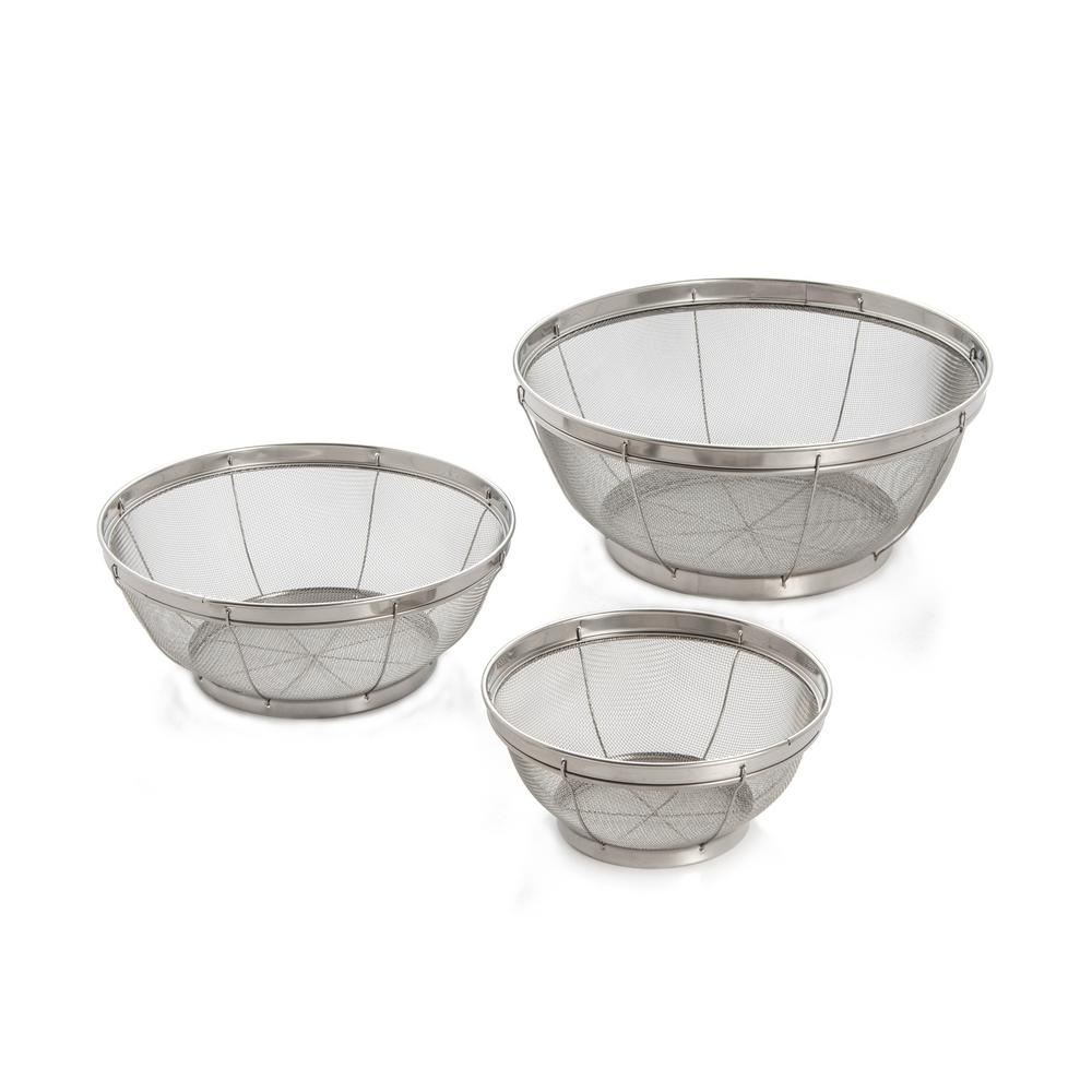 3-Piece Reinforced Stainless Mesh Colander