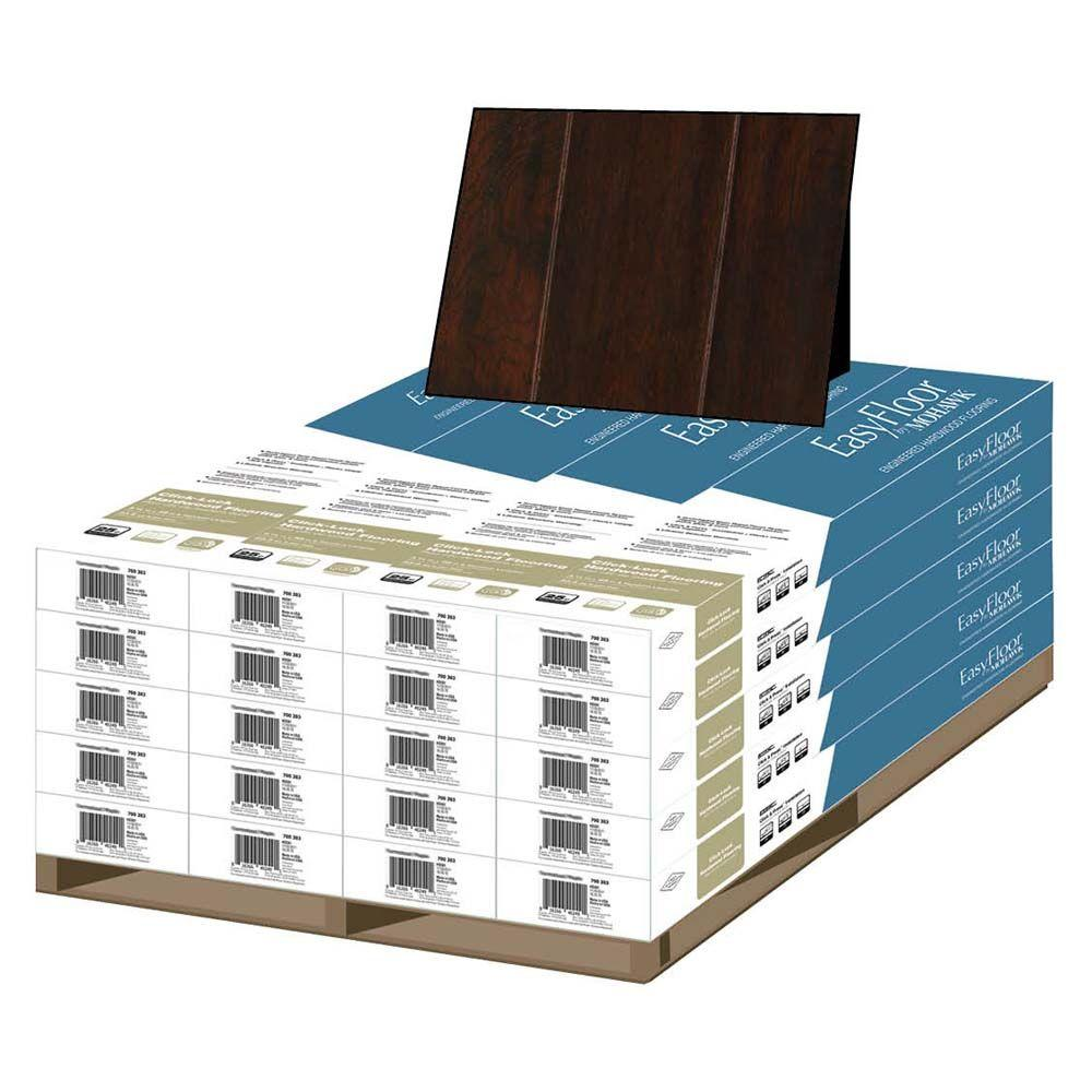 Mohawk Chocolate Hickory 1/2 in. T x 5 in. W x Random Length Soft Scraped Engineered Hardwood Flooring (375 sq. ft. / pallet)