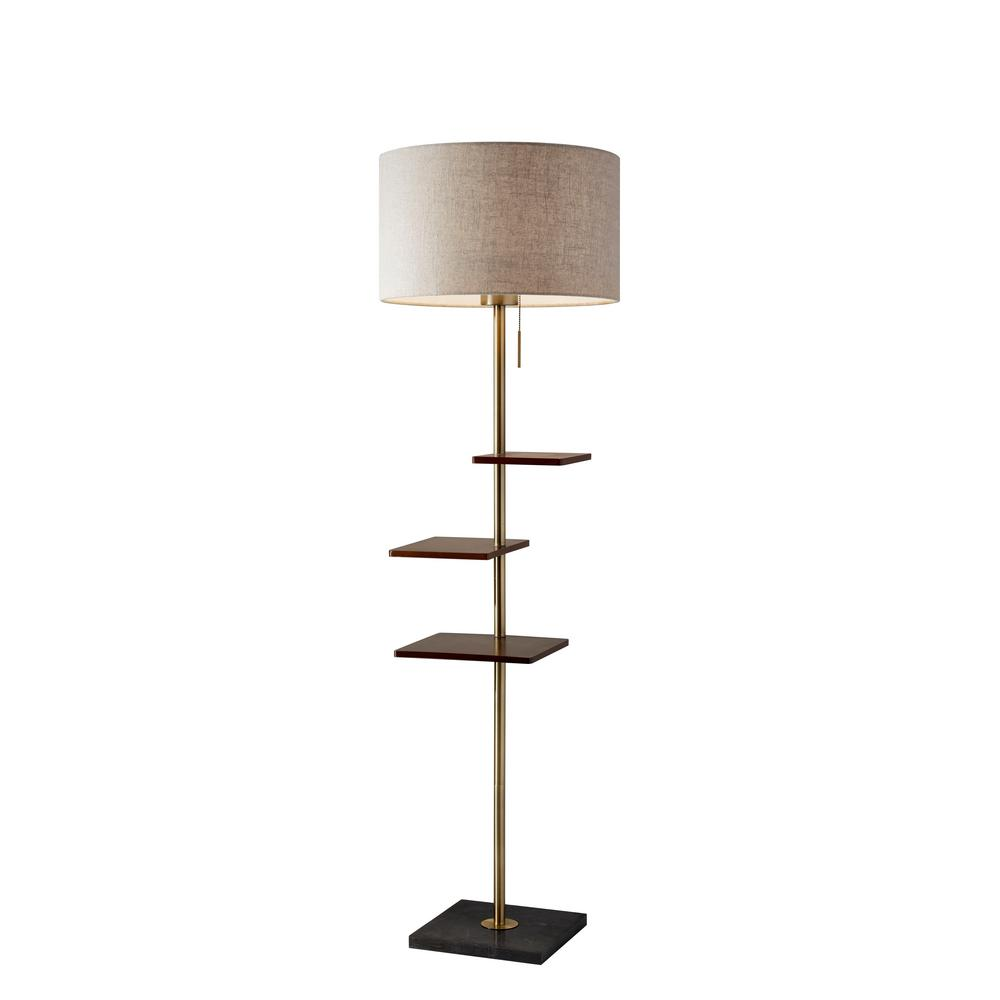 Griffin 65 in. Brass Floor Lamp