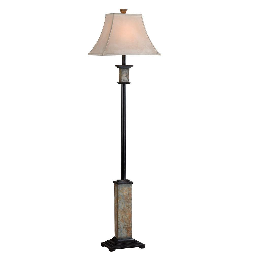 Kenroy Home Bennington 62 in. Natural Slate Floor Lamp