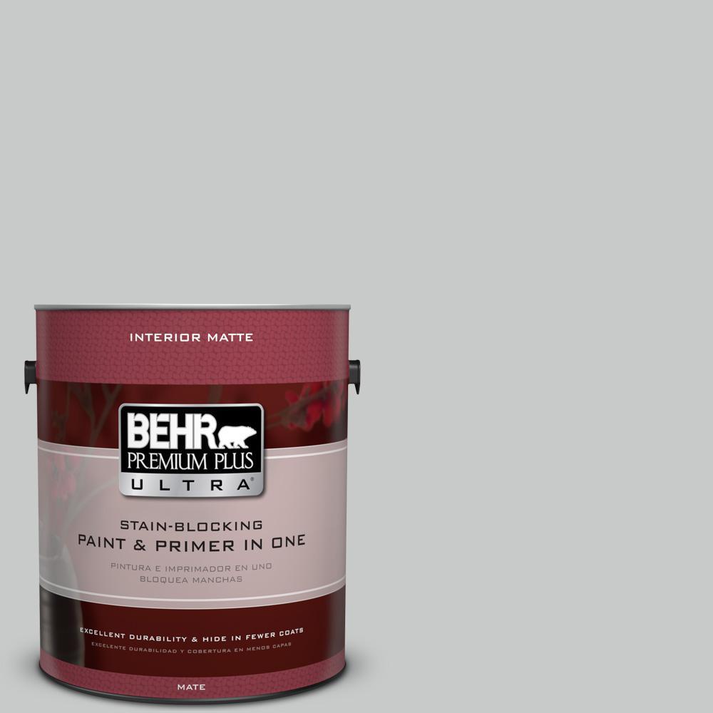 BEHR Premium Plus Ultra 1-Gal. #UL260-17 Burnished Metal Interior Flat Enamel Paint