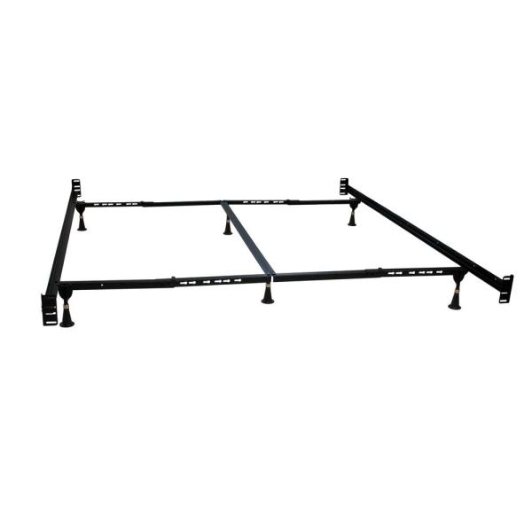 Queen Headboard and Footboard Adjustable Bed Frame with 6-Glides