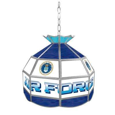 1-Light United States Air Force Hanging Tiffany Lamp