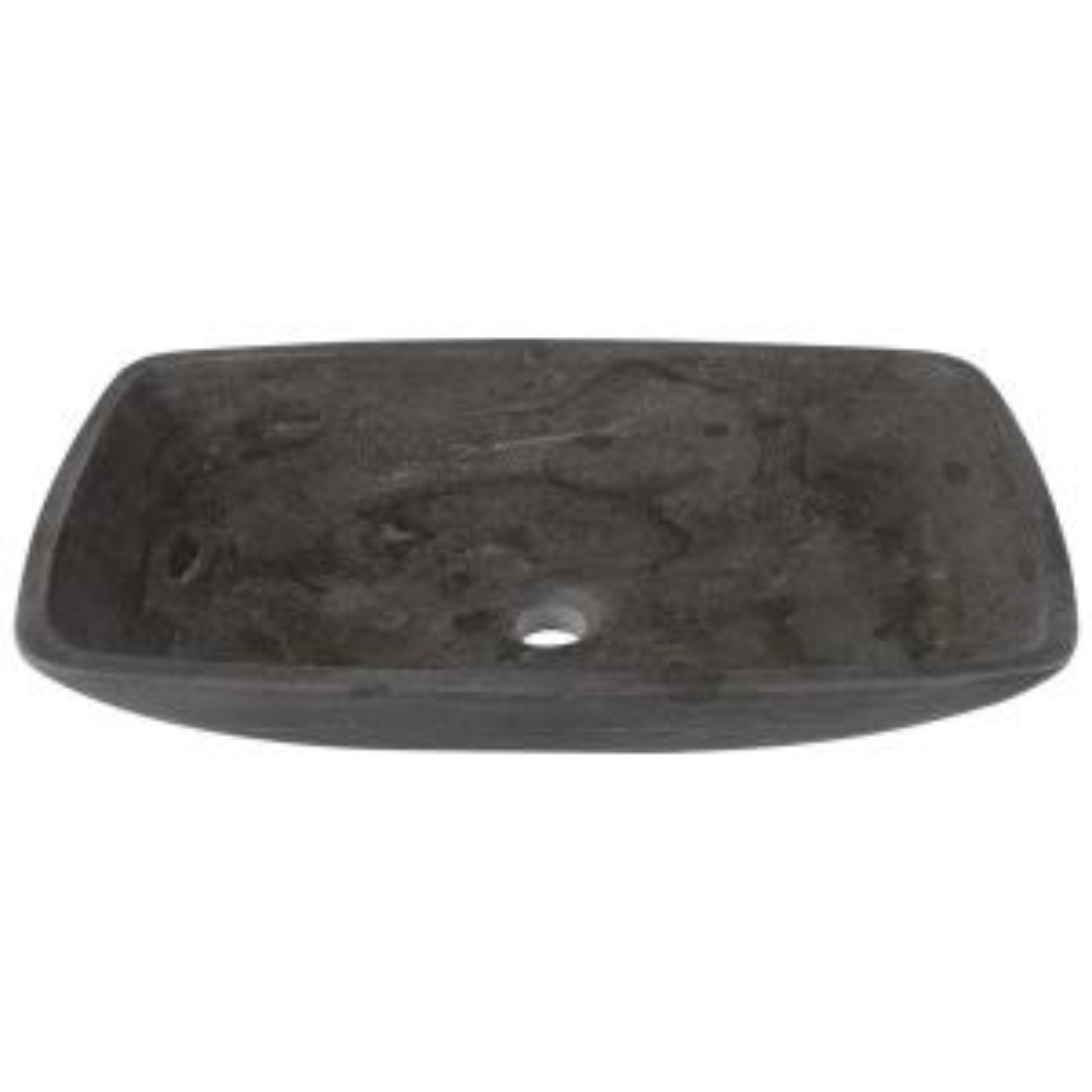 Polaris Sinks Stone Vessel Sink in Gray Limestone by Polaris Sinks